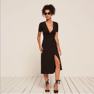 "Reformation ""Britton"" Midi Wrap Dress"